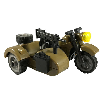 Minifig World War II Japanese Motorcycle with Sidecar - Motorcycles