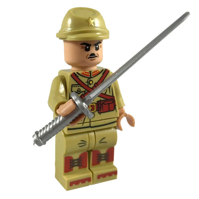 Minifig World War II Japanese Soldier Isami - Minifigs