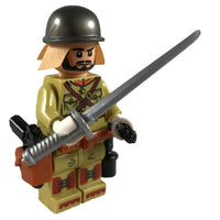 Minifig World War II Japanese Soldier Isamu - Minifigs
