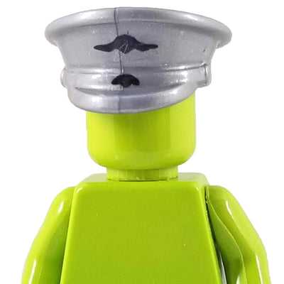 Minifig World War II Officer Visor Crusher Cap with Logo - Headgear