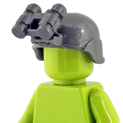 Minifig Ballistic Helmet with NVG - Grey - Headgear