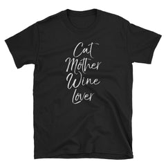 Cat Mother Wine Lover Short-Sleeve Unisex T-Shirt