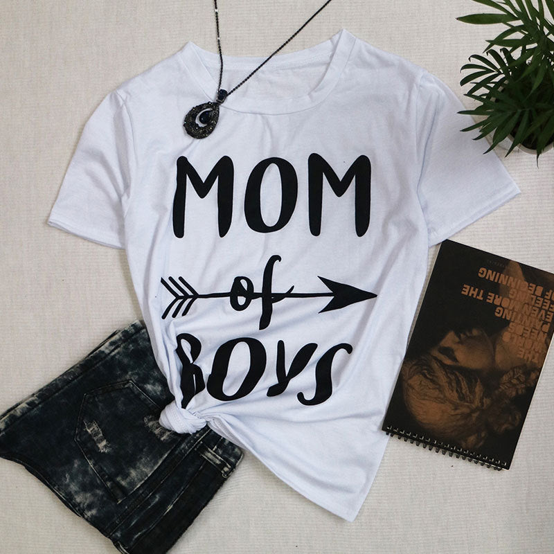 "Mom of Boys t shirt mother""s day gift"