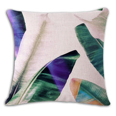 Fresh green leaves Cushion