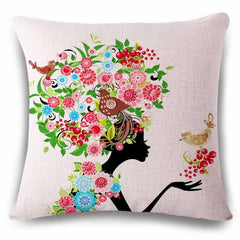 watercolor beautiful Cushion