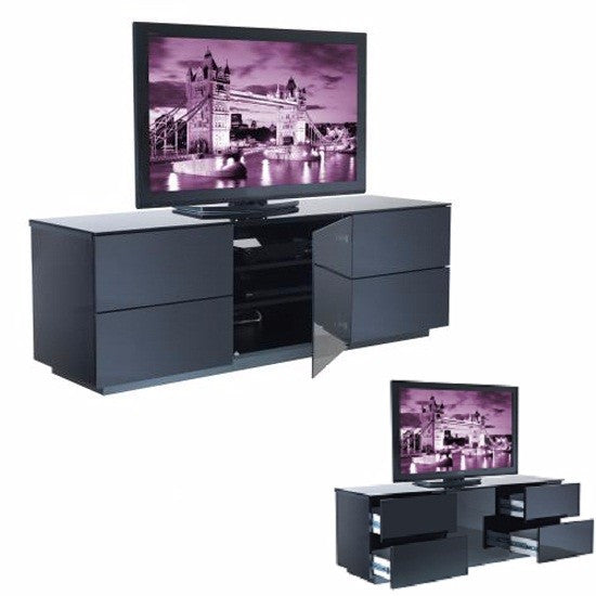 Greenville High Gloss TV Stand in Black