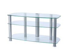 3 glass shelves mounted with strong legs TV Stand 4