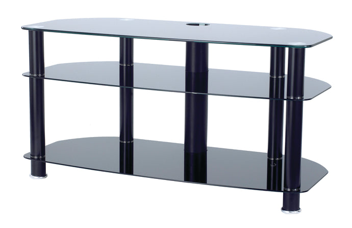 3 glass shelves mounted with strong legs TV Stand