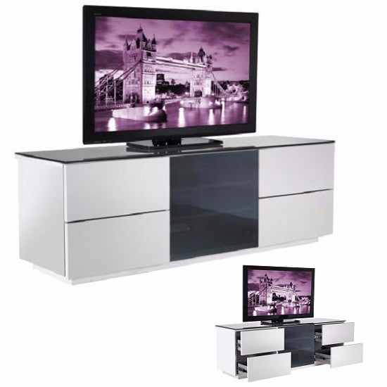 Franklin TV Stand in White High Gloss