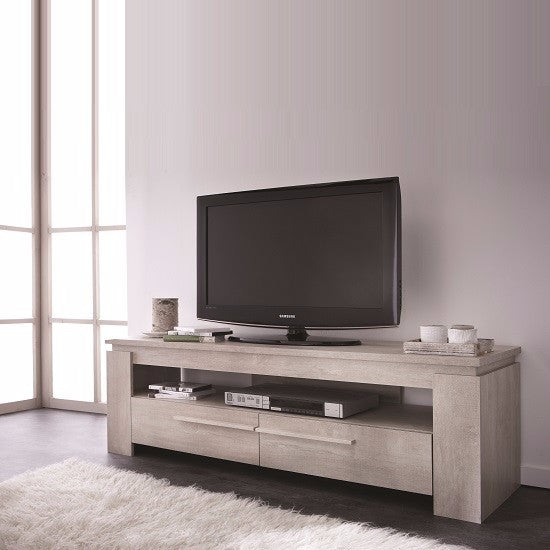 Westport Wooden TV Stand in Champagne Oak