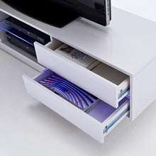 Pittsburgh White High Gloss TV Stand with LED Lights-13