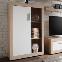 Swiss Wall TV Unit Living Room Set in Oak with LED Lights 4