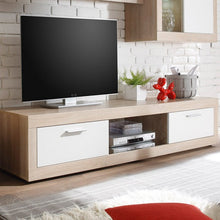 Swiss Wall TV Unit Living Room Set in Oak with LED Lights 6