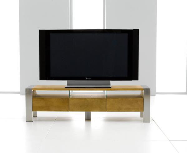 Audrey/Caleb TV Cabinet With Steel Lags And Drawers