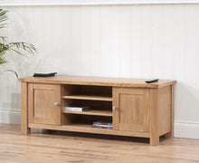 Belfast TV Unit With Oak Finish And Removable Shelf-3