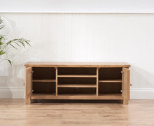 Belfast TV Unit With Oak Finish And Removable Shelf-4