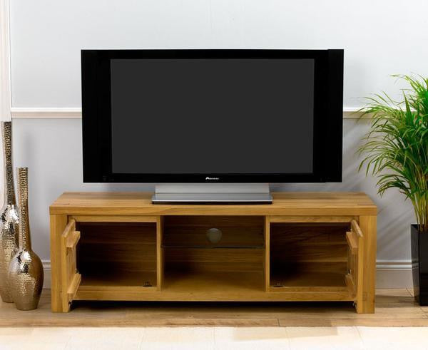 Bradford Medium TV Unit With Two Cabinets And Shelves