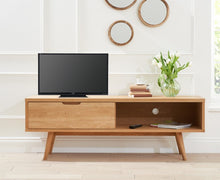 Buckingham Oak Wood Retro TV Cabinet-2