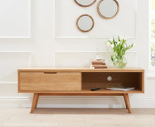 Buckingham Oak Wood Retro TV Cabinet-1