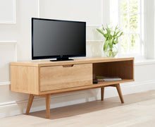 Buckingham Oak Wood Retro TV Cabinet-5