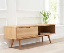 Buckingham Oak Wood Retro TV Cabinet-6
