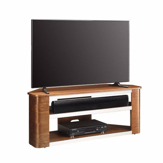 Milan Wooden Corner Acoustic TV Stand