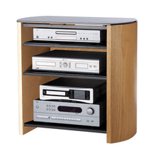 Curved Sides Four Shelf Smooth Edges TV Stand-5