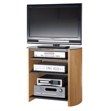 Curved Sides Four Shelf Smooth Edges TV Stand-4