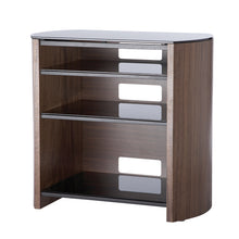 Curved Sides Four Shelf Smooth Edges TV Stand-3