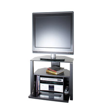 D-shaped Triple Leg IR Friendly Flip Down Door TV Stand-1