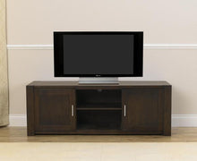 Dark Oak Finish Stella TV Unit With Cabinets And Shelves-1