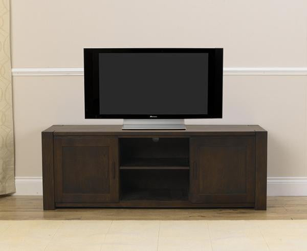 Dark Oak Finish Stella TV Unit With Cabinets And Shelves