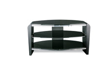 Dual Toughened Glass Shelf TV Stand Black 1
