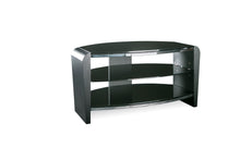 Dual Toughened Glass Shelf TV Stand Black