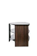 Dual Toughened Glass Shelf TV Stand Walnut 3