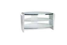 Dual Toughened Glass Shelf TV Stand White Smoked White