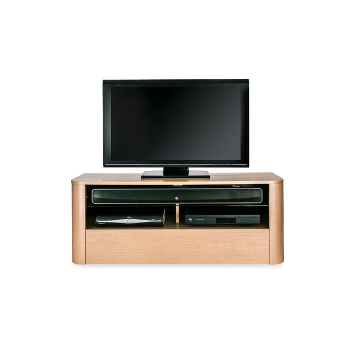 Fullwooden body With Single Glass Partition Strong TV Cabinet