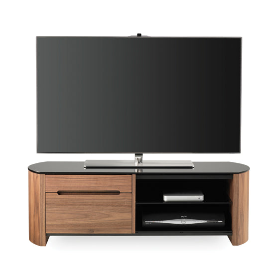 Glossy Surface Drawer and Open Shelf TV Stand