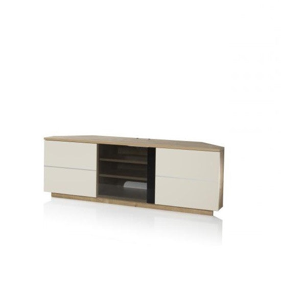 Hawai Corner TV Cabinet in Cream Gloss