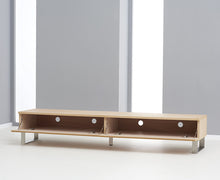 Isaac TV Unit With Chrome Legs And Oiled Finish-4