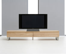 Isaac TV Unit With Chrome Legs And Oiled Finish