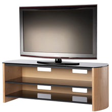 Curved Sides Glass Shelf TV Cabinet-2