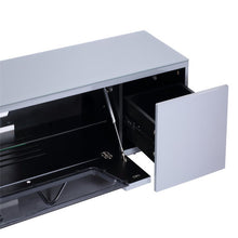 Large TV Stand With Two Shelf And One Drawer Grey-3