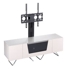 Large TV Stand With Two Shelf And One Drawer Ivory-1
