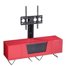 Large TV Stand With Two Shelf And One Drawer Red-1