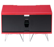Large TV Stand With Two Shelf And One Drawer Red-2