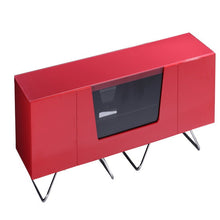 Large TV Stand With Two Shelf And One Drawer Red