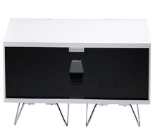 Large TV Stand With Two Shelf And One Drawer White-4