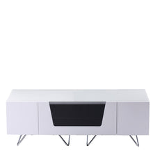 Large TV Stand With Two Shelf And One Drawer White-2
