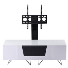 Large TV Stand With Two Shelf And One Drawer White-1